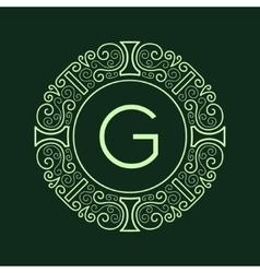 Luxury vintage green frame for monogram vector
