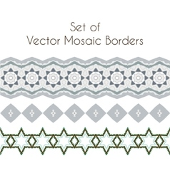 Set of exquisite filigree borders or brush vector