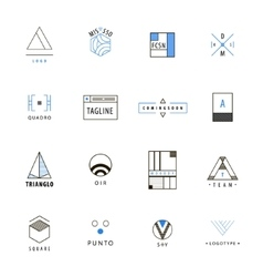 Set of minimal geometric hipster logos vector