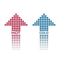 hot and cold vector image