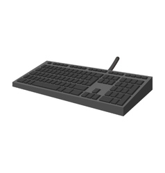 Black keyboard cartoon icon vector