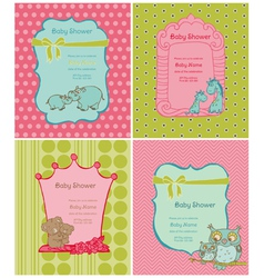 Set of Baby Shower Cards vector image