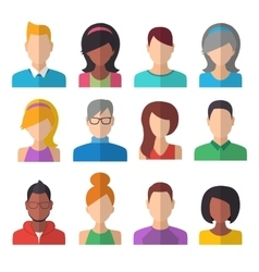 People icons set team concept vector