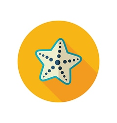 Starfish flat icon Summer Vacation vector image