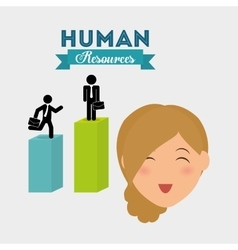Human resources design person icon isolated vector