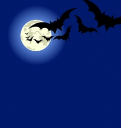 Halloween bats flyer vector image