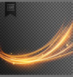 abstract transparent light effect in wave style vector image