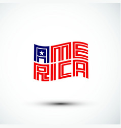 America logo flag sign amp symbol flat vector