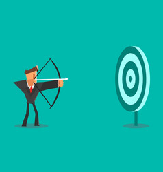Businessman aiming target business concept vector