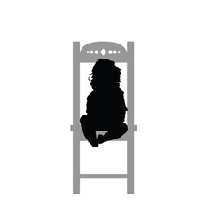 Child siting on chair vector