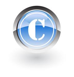 Circle lettre c icon logo vector