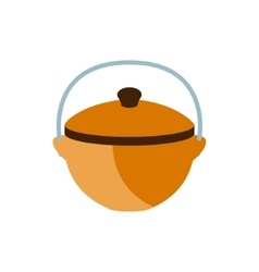 Cooking pot for a camp camping and hiking outdoor vector