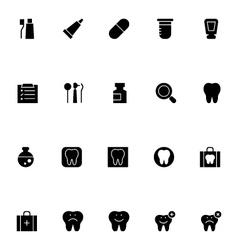Dental icons 1 vector