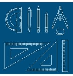 drawing equipment vector image vector image