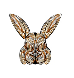 ethnic rabbit vector image vector image