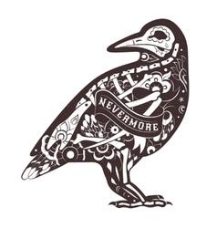 Floral crow vector