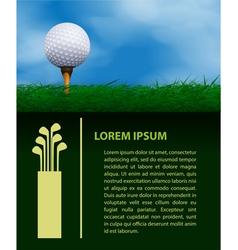 Golf design template vector