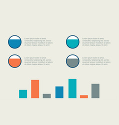 Graphic style for business infographic collection vector