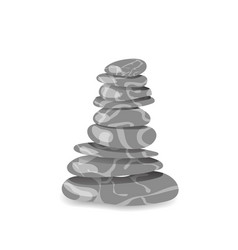 Grey stone pyramid vector