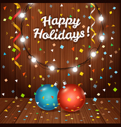 Happy holidays greeting card greeting card with vector