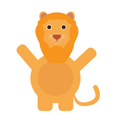 Isolated cute lion vector