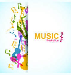 Musical abstract background vector