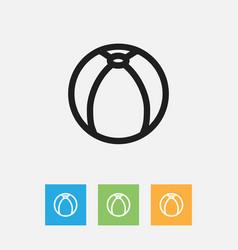 of folks symbol on ball vector image