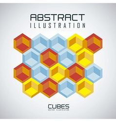 pattern of cubes vector image