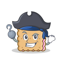Pirate biscuit cartoon character style vector