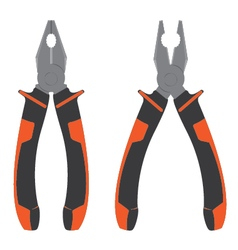 Pliers Pliers with orange and black isolated on vector image