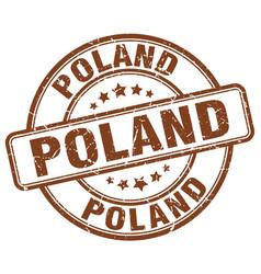 Poland stamp vector