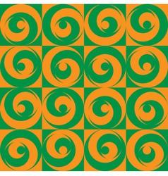 Seamless Circles Orange Green vector image