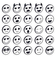 set of emoticons vector image vector image