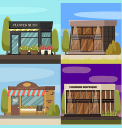 Shops concept icons set vector