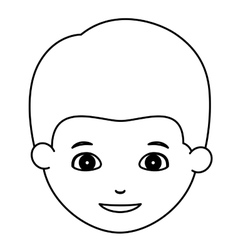 Silhouette of boy cartoon design vector image