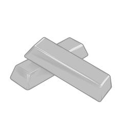 Silver bars vector image vector image