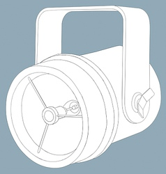 Sketch line drawing of a theatre spotlight vector