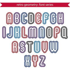 Smooth retro geometric characters set rounded vector image vector image