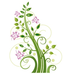 Spring tree flowers vector image vector image