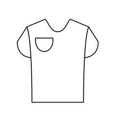 T shirt with front pocket icon image vector