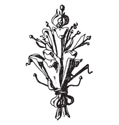 Terminal finial belgium vintage engraving vector