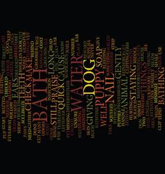 The dreaded bath text background word cloud vector