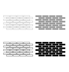 Wall set icons the black and grey color set icon vector