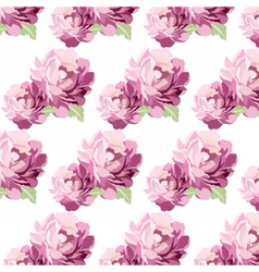 Watercolor Pink flowers Card vector image vector image