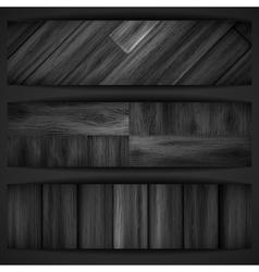 Wooden grey banner vector image