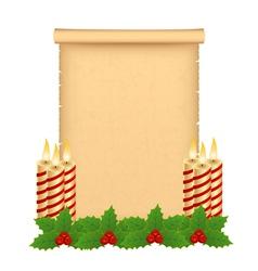 Christmas parchment vector image