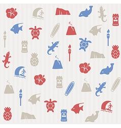 Hawaii seamless pattern vector image