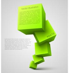 Green cubes 3D vector image