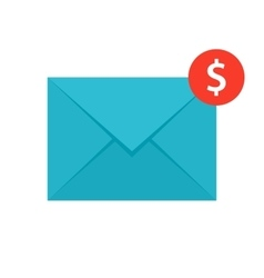 Email money transfer icon vector