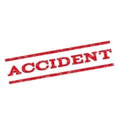 Accident watermark stamp vector